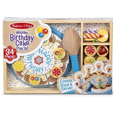 Wooden Birthday Cake Play Set