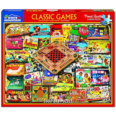 Classic Games 550 piece White Mountain Puzzle