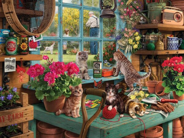Curious Kittens 1000 Piece White Mountain Puzzle