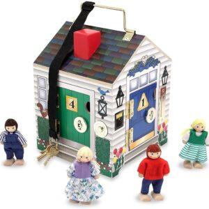 Deluxe Wooden Doorbell House