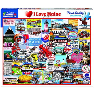 I Love Maine 1000 piece White Mountain Puzzle