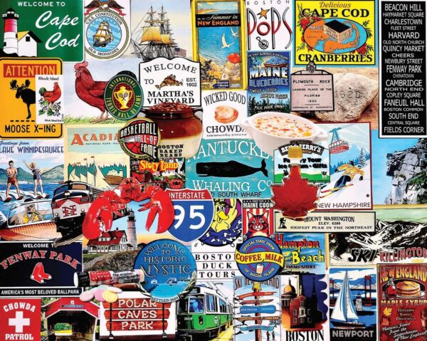I Love New England 1000 piece White Mountain Puzzle