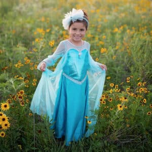 Ice Queen Dress With Cape, Size 5-6