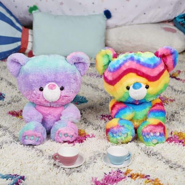 Kai Tie Dye Pink and Blue Plush Stuffed Animal Teddy Bear, 12″
