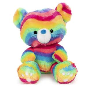 Kai Rainbow Plush Stuffed Animal Teddy Bear, 12″