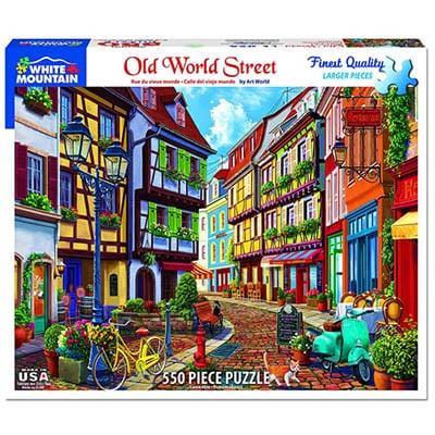 Old World Street 550 piece White Mountain Puzzle