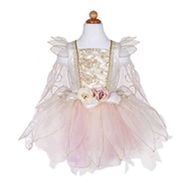 Golden Rose Fairy Dress With Wings, Size 5-6