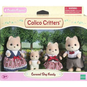 Calico Critters Caramel Dog Family