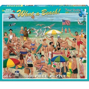 What A Beach 1000 Piece White Mountain Puzzle
