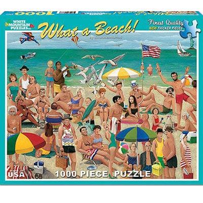 What A Beach 1000 Piece White Mountain Puzzle
